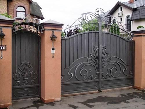 Технология изготовления въездных ворот с калиткой своими руками