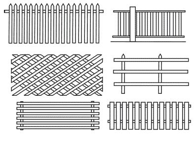 Деревянный забор для полисадника
