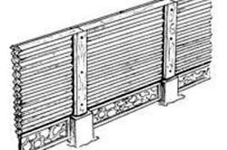 Декоративный деревянный забор «Кросс»