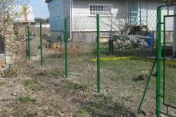 Простой забор из рябицы