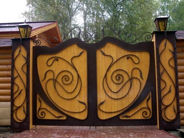 Материал для распашных ворот
