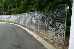 Секционный забор с рисунком