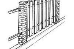 Деревянный забор с просветом «Шахматы»
