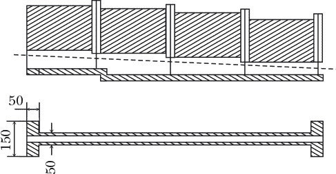 Схема укладки забора и фундамента одной секции