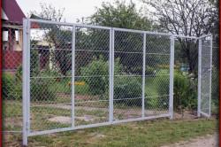 Ворота из сетки рябицы