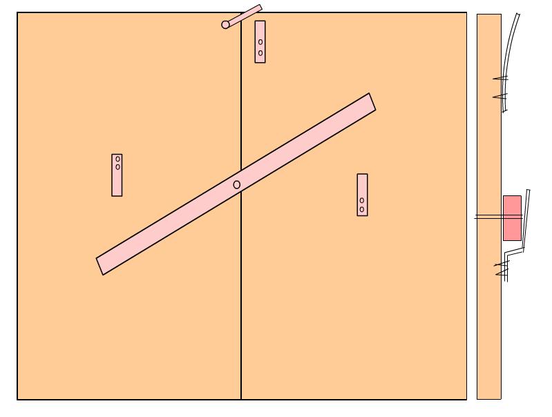 Запор-вертушка для гаража