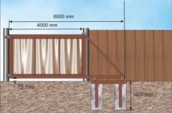 При подготовке фундамента для основания откатных ворот, не стоит экономить на материалах, таких как арматура, цемент, швеллеры.