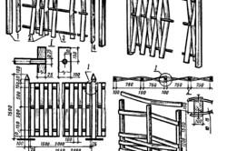 Схема плетения вертикального тына