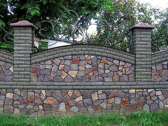 Забор из камня своими руками.