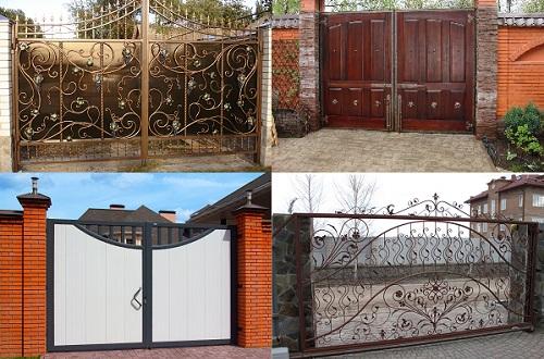 Варианты ворот для дома