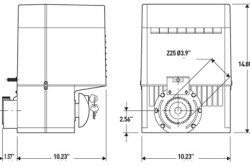 Схема электропривода для автоматических ворот