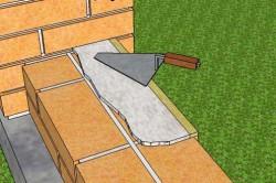 Кладка кирпича рядами