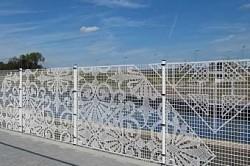 Забор из сетки Рабицы с ажурными узорами