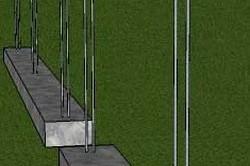 Армирующая основа для забора из кирпича
