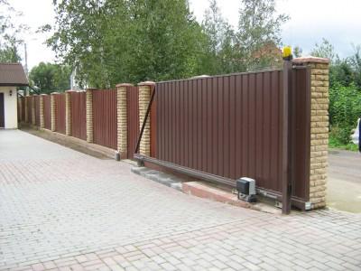Технология изготовления фундамента для откатных ворот