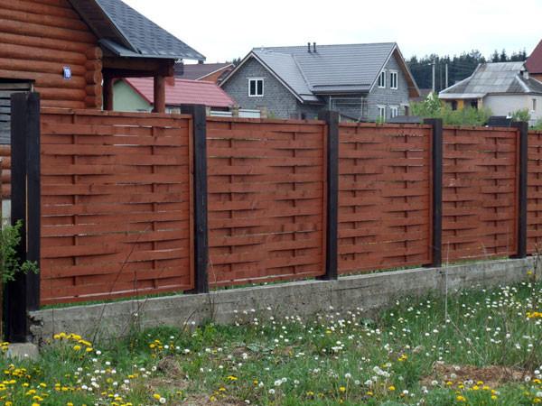 Оригинальный плетеный забор