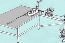 Общая схема станка для изготовления сетки рабица