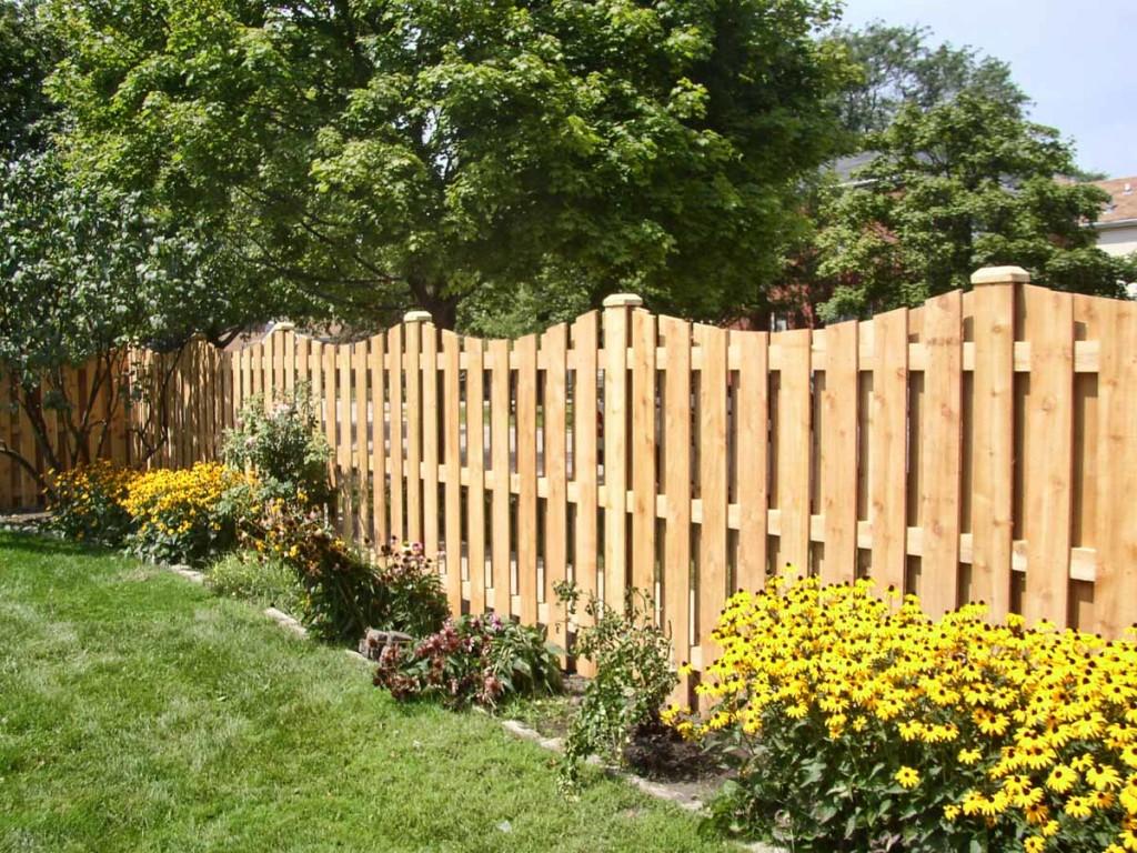 Деревянный декаративный забор