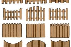 Разновидности деревянных заборов