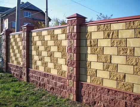 Забор из сплитерных блоков своими руками