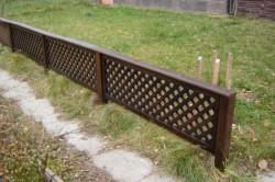 Заборчик деревянный секционный