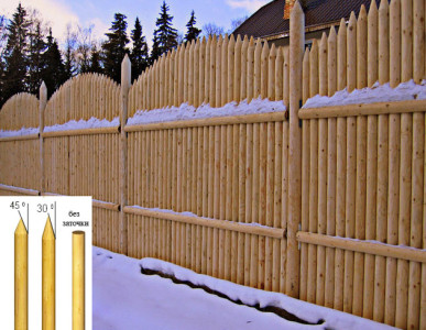 Забор - частокол