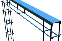 Для фундамента ворот необходимо подготовить металлический каркас, который сваривается из швеллера и арматурных прутьев.