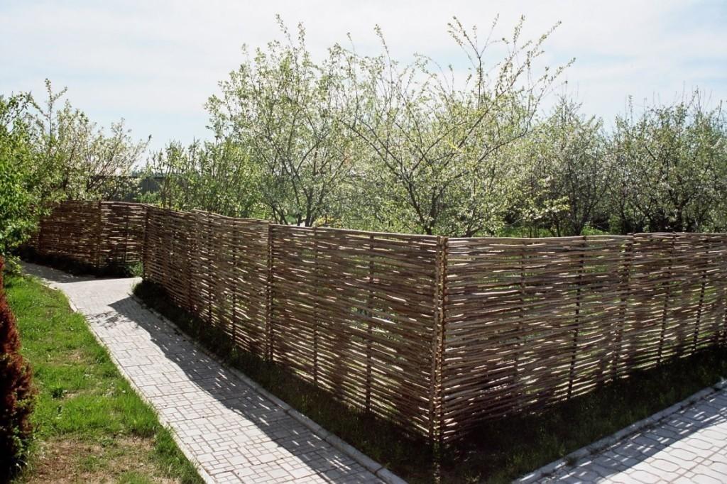 Тын ограждающий сад