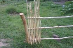 Пример вертикального плетения