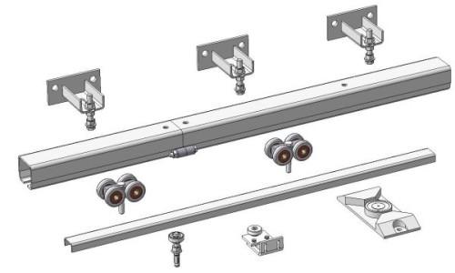 Конструкция откатных подвесных ворот