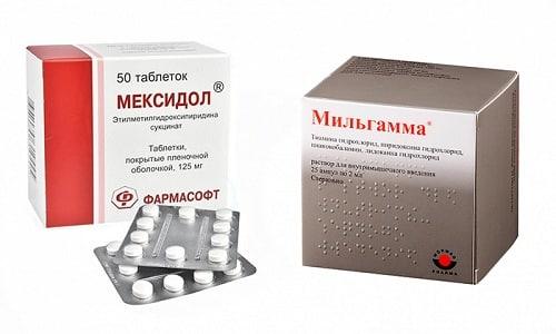 Мильгамма и Мексидол помогают устранить боль, снять воспаление, нормализовать работу нервной системы
