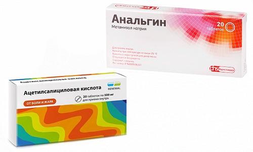 Анальгин или Ацетилсалициловую кислоту применяют при сходных патологических состояниях
