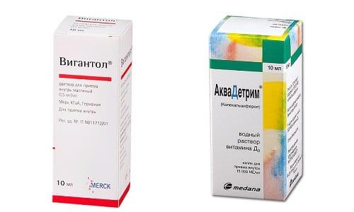 При болях в суставах или для их укрепления врачи нередко назначают Вигантол или Аквадетрим