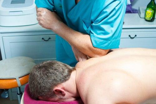 Процедура проведения массажа при нарушении осанки
