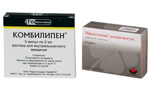 Мильгамма и Комбилипен - лекарственные средства, содержащие витамины группы B
