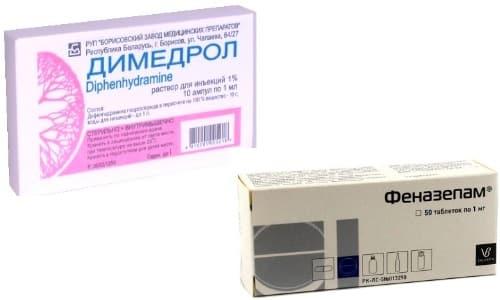 Препараты Димедрол или Феназепам помогают нормализовать сон
