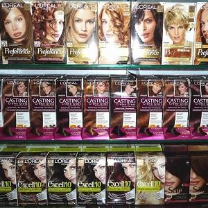 Ассортимент красок для волос