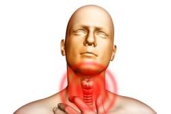 Боль в горле - симптом воспаления слюнной железы