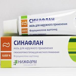 Синафлан - мазь против аллергии на пиявки