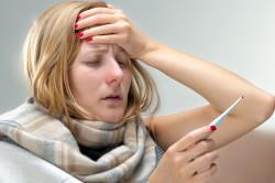 Высокая температура при остром стоматите