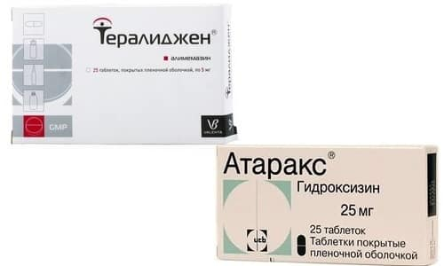 Тералиджен или Атаракс используют для терапии тревожных симптомов, коррекции когнитивных функций, панических атак и фобий